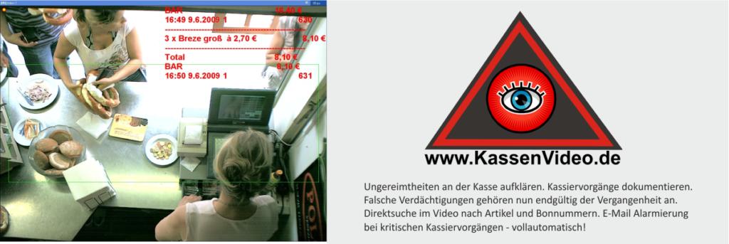 KassenVideo - Videoüberwachung an Kassensysteme mit Einblendung der Kassendaten im Kamerabild Kassenkontrolle vereinfachen und Kassentricks entdecken
