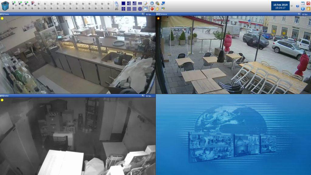Live-Bild im Video-Control-NET Bildschirm.